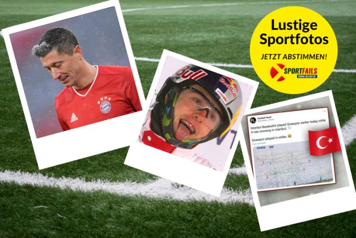 Lustigen Sportfotos Lewandowski